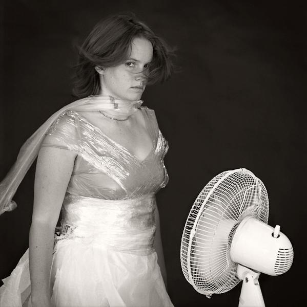 Girl with Fan (Berkeley, 2008) © Sheila Newbery