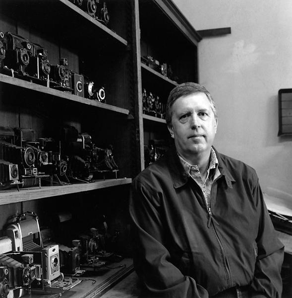 Graham Pilecki in his camera shop (Albany, CA) © Sheila Newbery