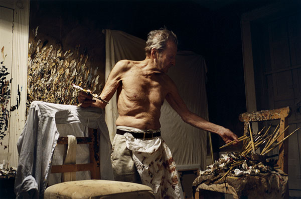 Lucian Freud in his Studio by David Dawson, painter & photographer