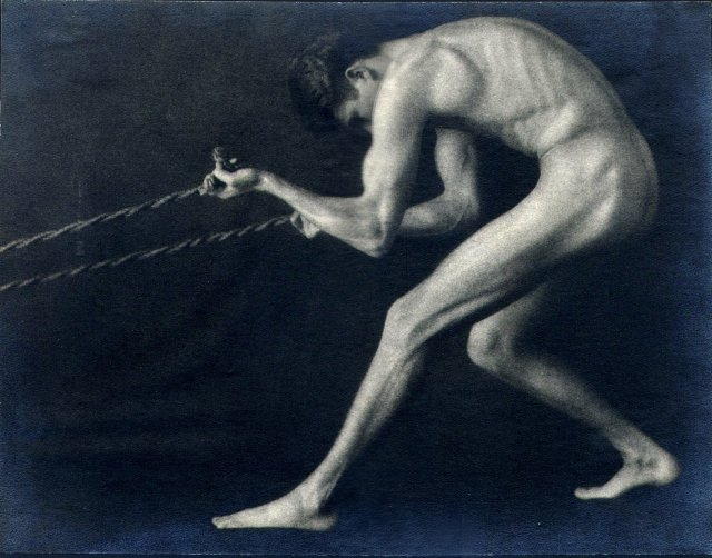 Figure Study no. 3 by Zoltan Herczegh (1880-?), photographer based in Cleveland, Ohio.