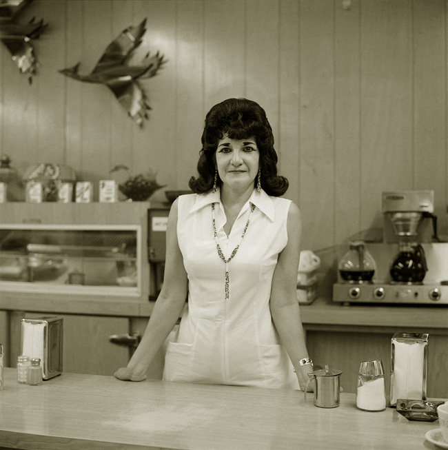 Truckstop waitress, Highway 66, Gallup, New Mexico, 1972  © Steve Fitch