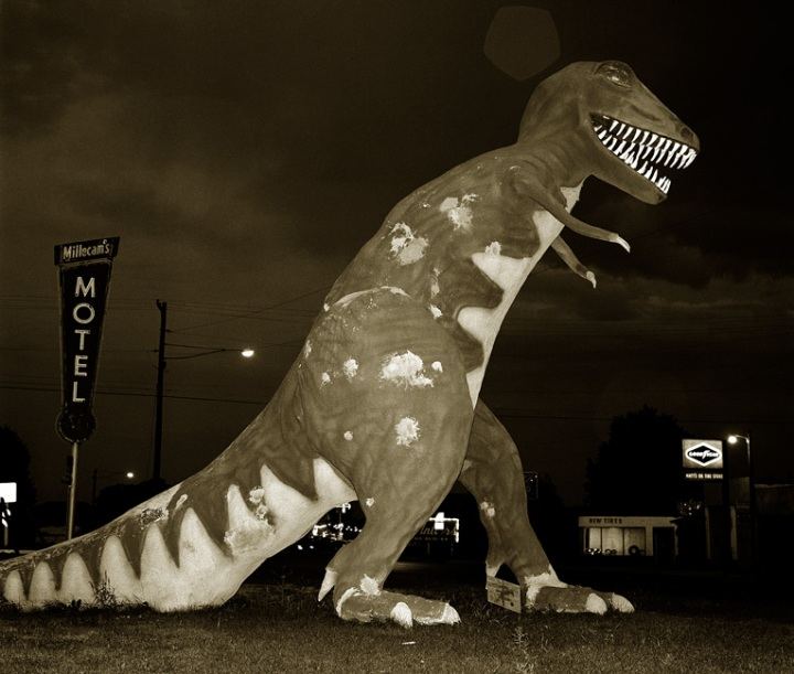 Dinosaur, Highway 40, Vernal, Utah, 1974 © Steve Fitch