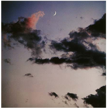 Cloud Formations and Moon After Sunset, Tesuque, New Mexico, July 1958