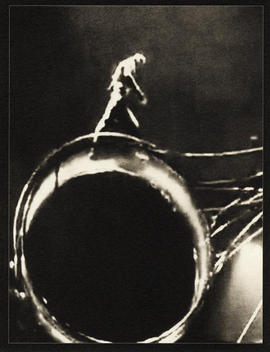 En la cima sólo hay lugar para uno (palladium print, 2012) from *Los Caprichos: after Goya*