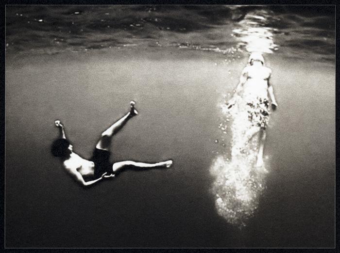 """""""Ahogarse o nadar?"""" from *Los Caprichos* (palladium print, 2012) by Sheila Newbery"""