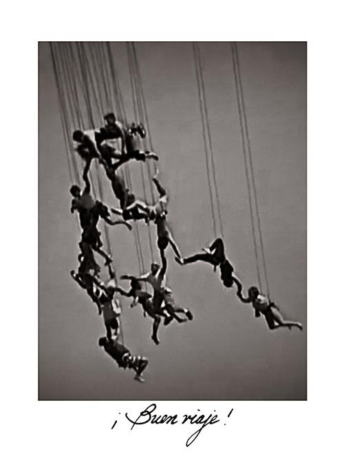 "From *Los Caprichos: after Goya*, ""Buen viaje!"", platinum palladium print, 2013, by Sheila Newbery"