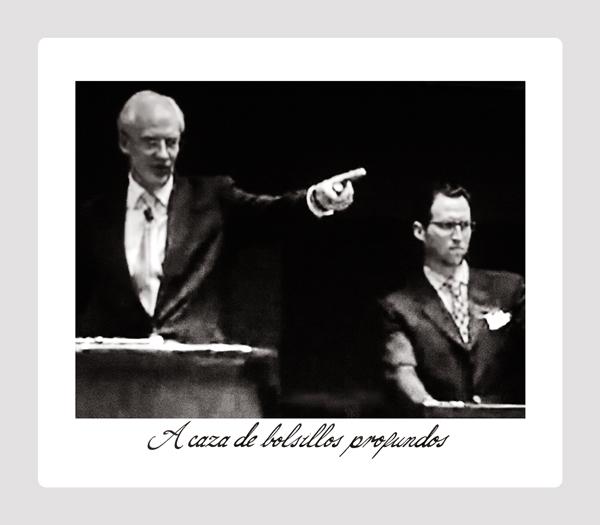 """A caza de bolsillos profundos"" from *Los Caprichos: after Goya* (platinum palladium print, 2014)"